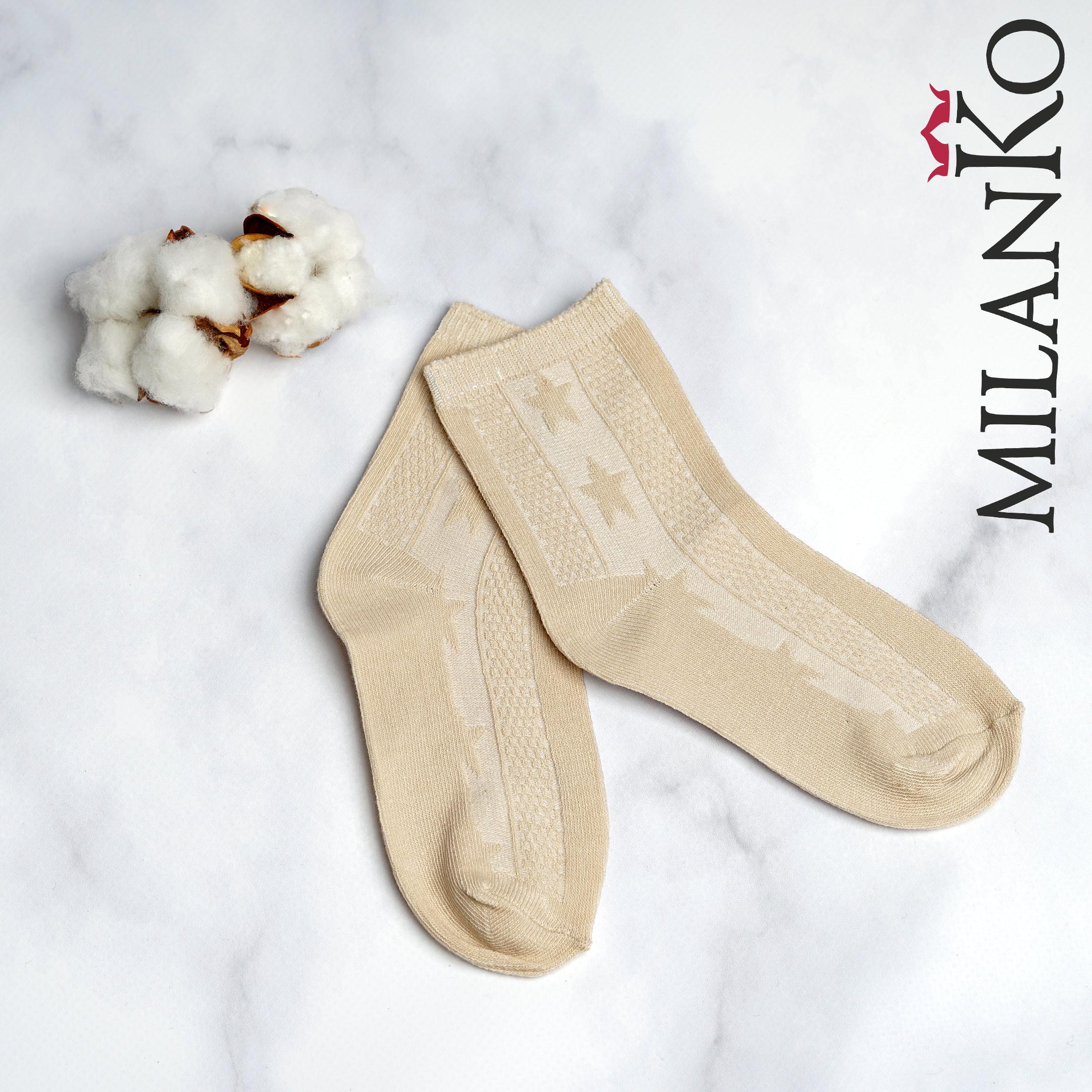 Подростковые носки летние c выбитым рисунком (Узор 2) MilanKo IN-176