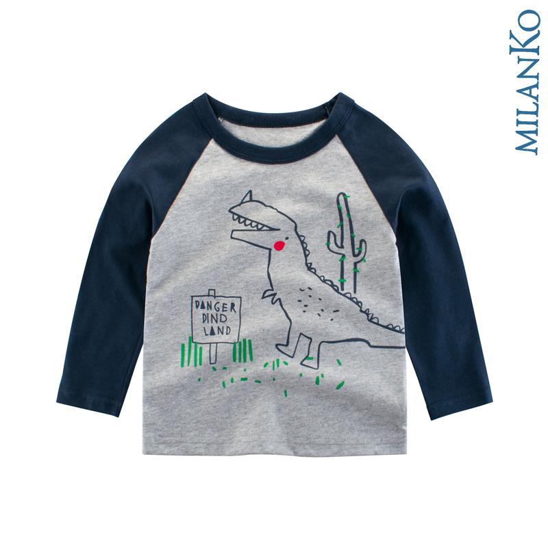 """Лонгслив (футболка с длинным рукавом)  """"дино кактус"""" MilanKo DK-0201"""