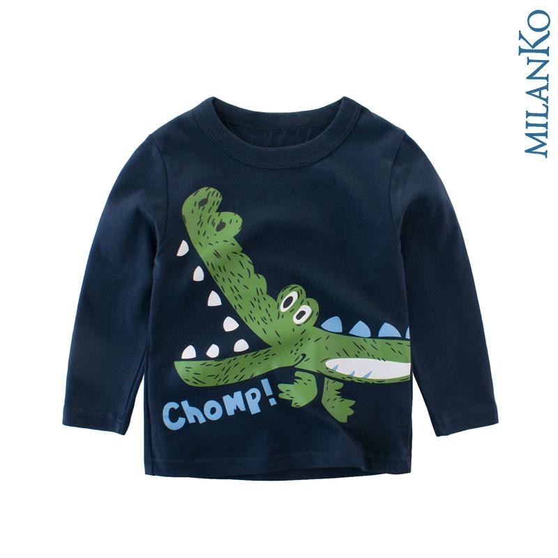 """Лонгслив (футболка с длинным рукавом) """"крокодил"""" MilanKo DK-0201"""
