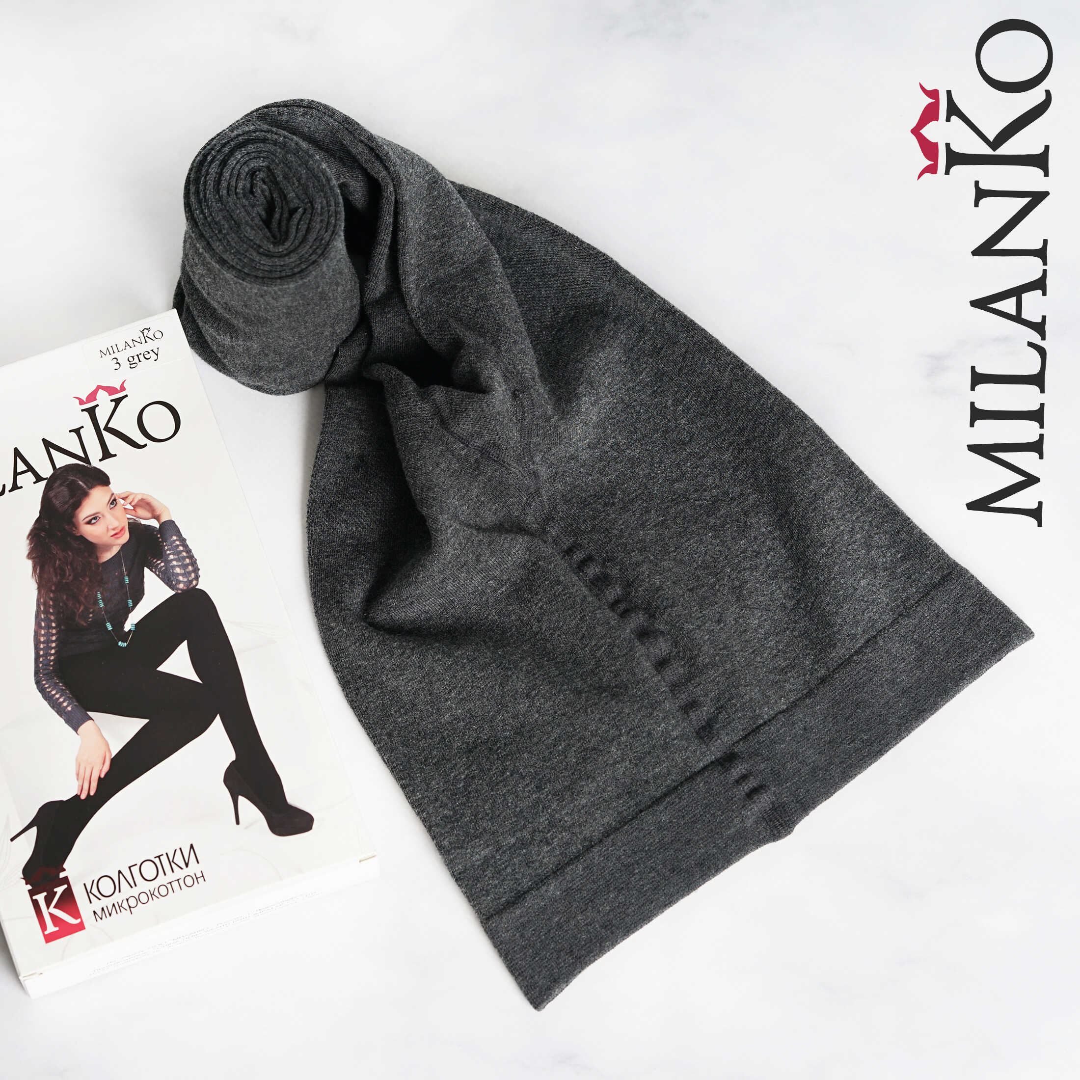 Женские колготки микрокоттон MilanKo K-037