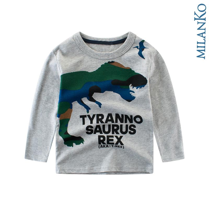 """Лонгслив (футболка с длинным рукавом) """"тиранозавр"""" MilanKo DK-0201"""