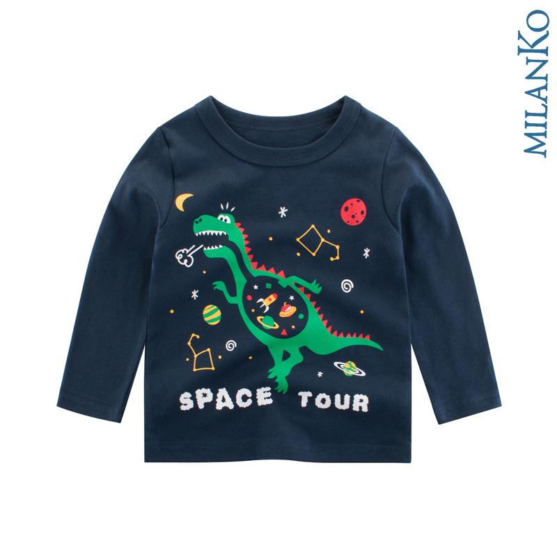 """Лонгслив (футболка с длинным рукавом) """"дино в космосе"""" MilanKo DK-0201"""