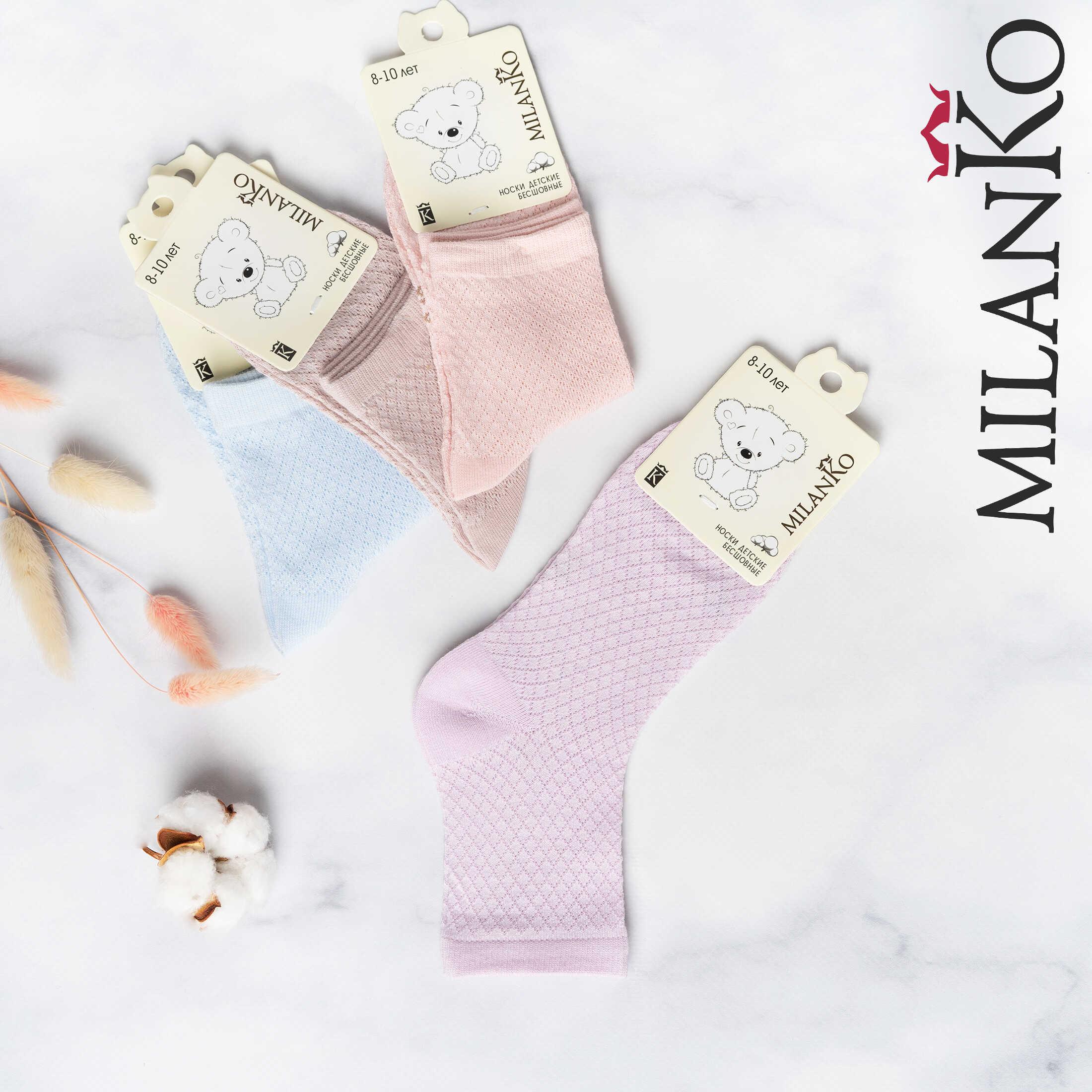 MILANKO     Детские носки бесшовные для девочек MilanKo IN-166