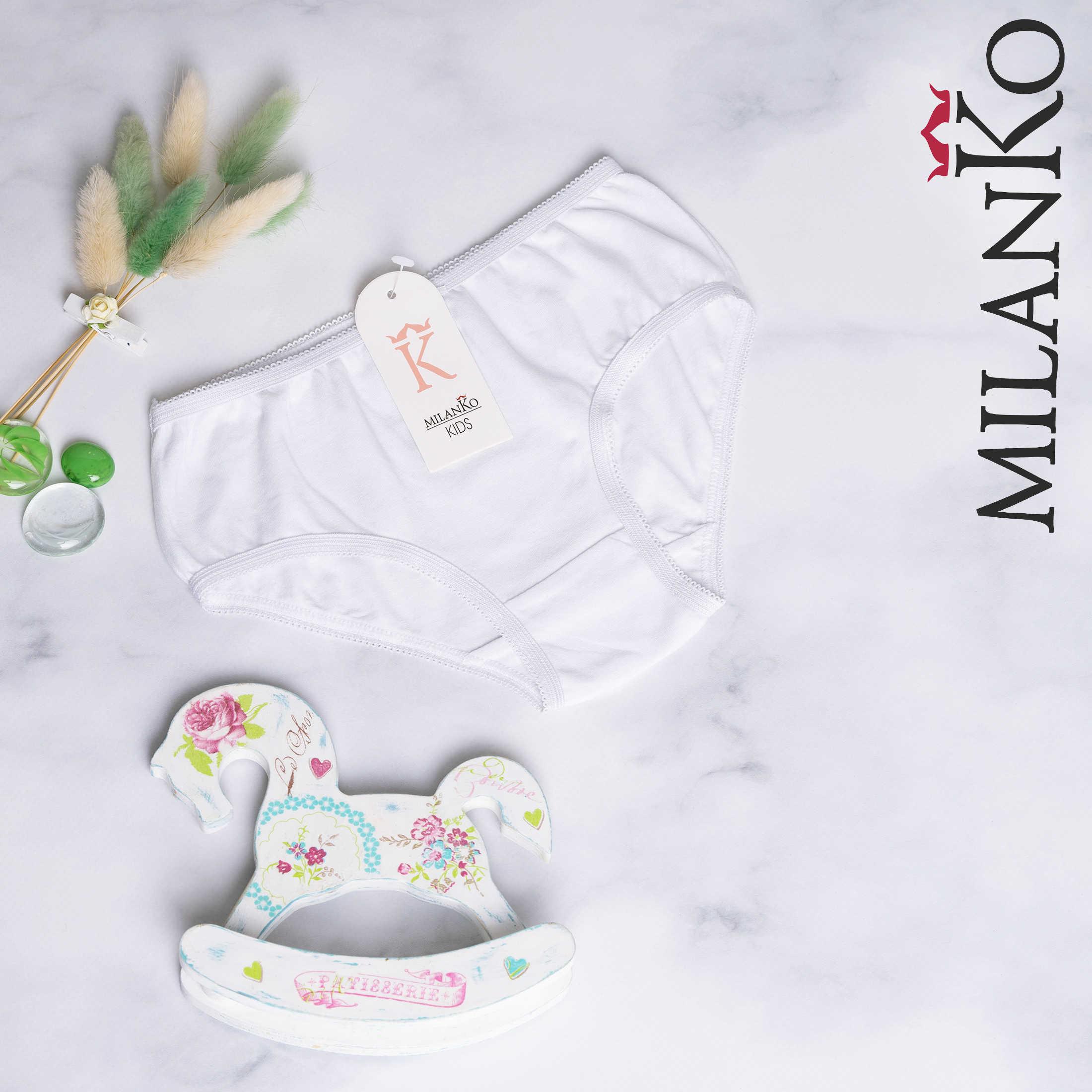 MILANKO     Трусики детские БЕЛЫЕ MilanKo 3113